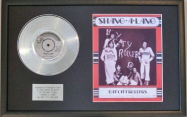 BAY CITY ROLLERS -Platinum Disc&Songsheet-SHANG-A-LANG